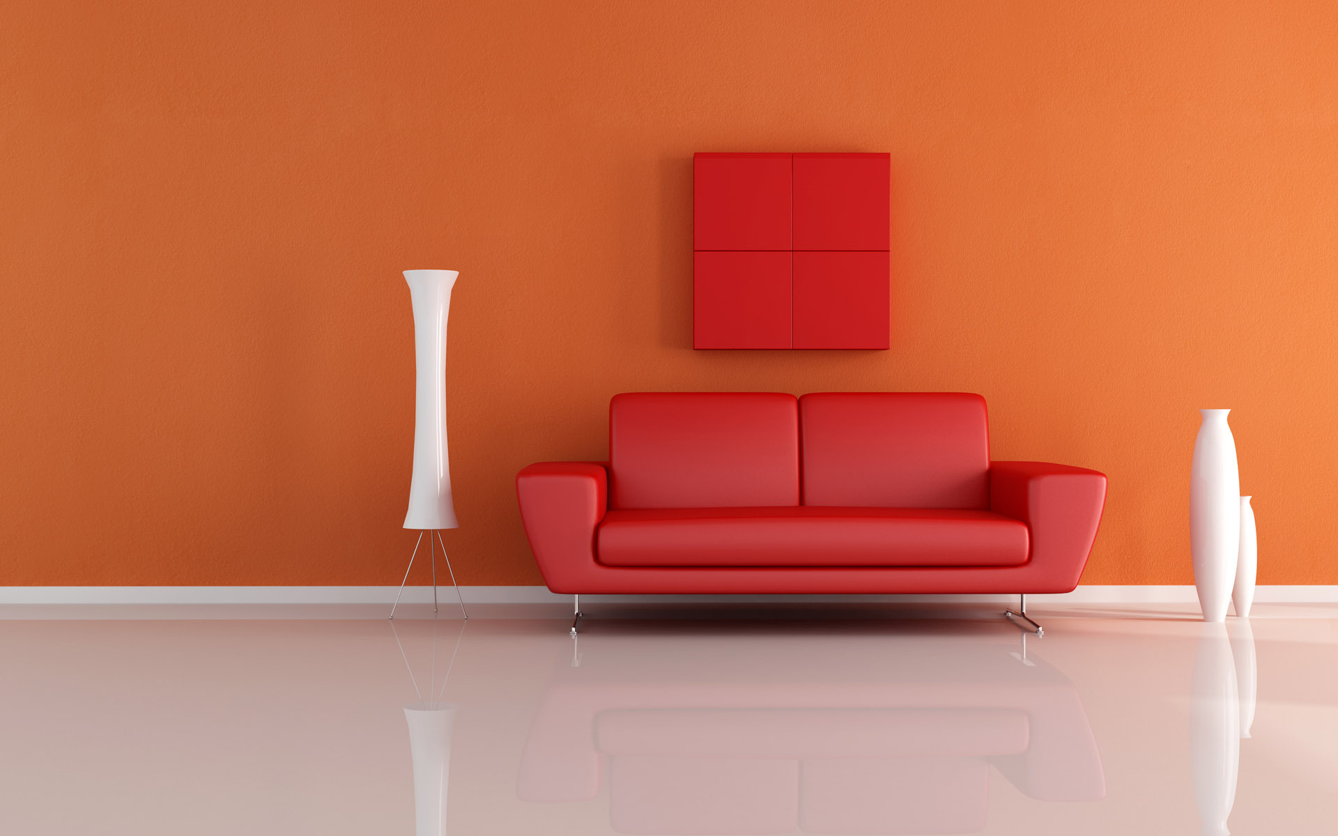 red and orange loving room